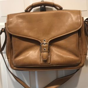 Coach tan briefcase